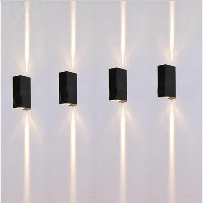 Typo Led Wall Light: COB Modern LED Wall Lamps 2*3W Indoor Outdoor Lighting