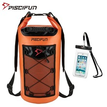 Piscifun Waterproof Dry Bag 10L 20L 30L 40L with Phone Case For Fishing Kayaking Rafting Boating Hiking Camping Swimming