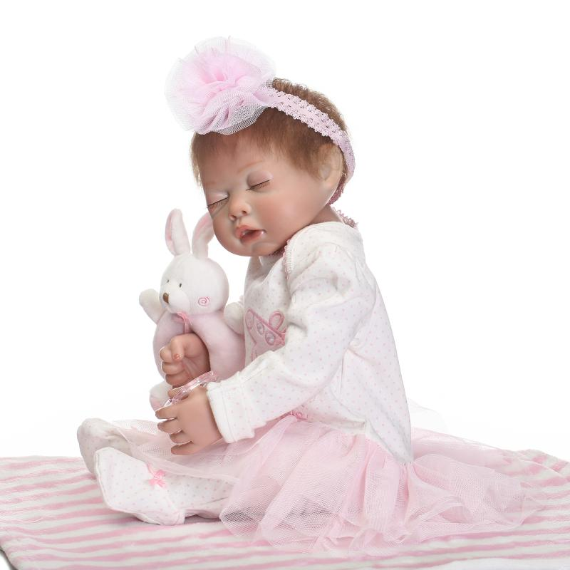 50cm Full Silicone Body Reborn Baby Doll Lifelike Newborn Princess Girl Babies Vinyl Doll Birthday Gift Juguetes Brinquedos christmas gifts in europe and america early education full body silicone doll reborn babies brinquedo lifelike rb16 11h10
