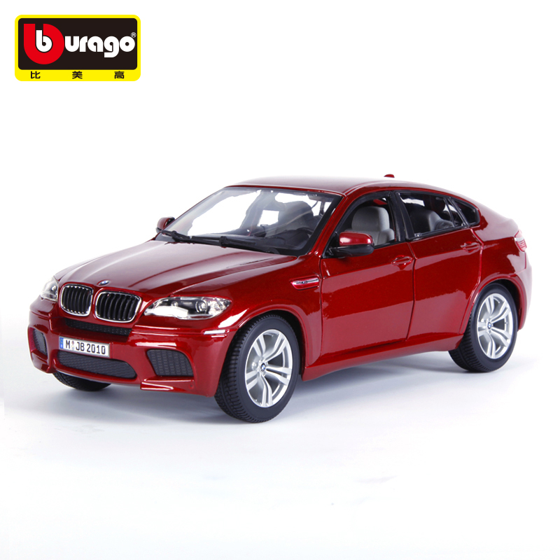 Bburago X6 1:18 Scale Alloy Model  Metal Diecast Car Toys High Quality collection Kids Toys Gift  недорого