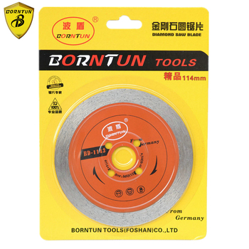 Borntun 4-inch Diamond Cutting Sawing Blade Disc Wheel 114mm Dry Wet Saw Blades for Marble Stone Porcelain 3 4 5 6 8 inch ultra thin diamond saw blade cutting arbor disc stone agate cut jade cutting disc