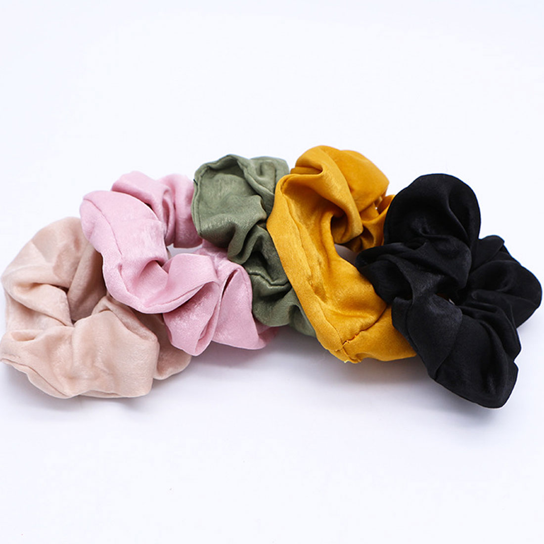 New Solid Lady Sports Bobble Hair Scrunchies Ring Pure Color Elastic Hair Bands Dance Velvet Soft Charming Scrunchie Hairband in Women 39 s Hair Accessories from Apparel Accessories