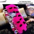 Bling Cases Furry Shell Crystal Top Rex Rabbit Fur Back Cases Plush Diamond Covers Bag For Samsung Galaxy S3Mini/S4 Mini/S5 Mini