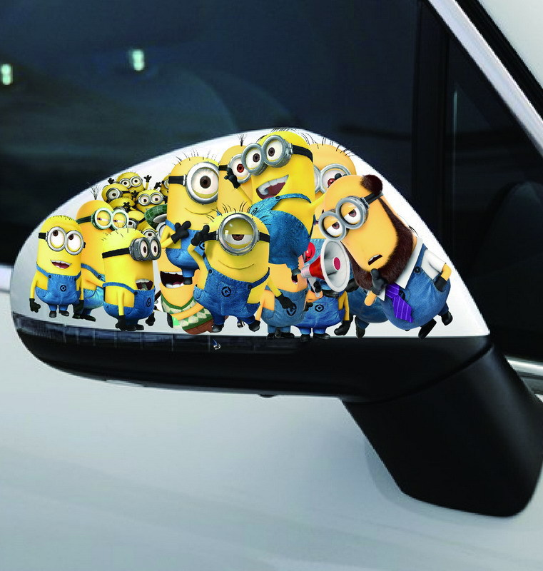 Online Shop Funny Car Styling Cute Despicable Me Family Minions - Minion custom vinyl decals for car