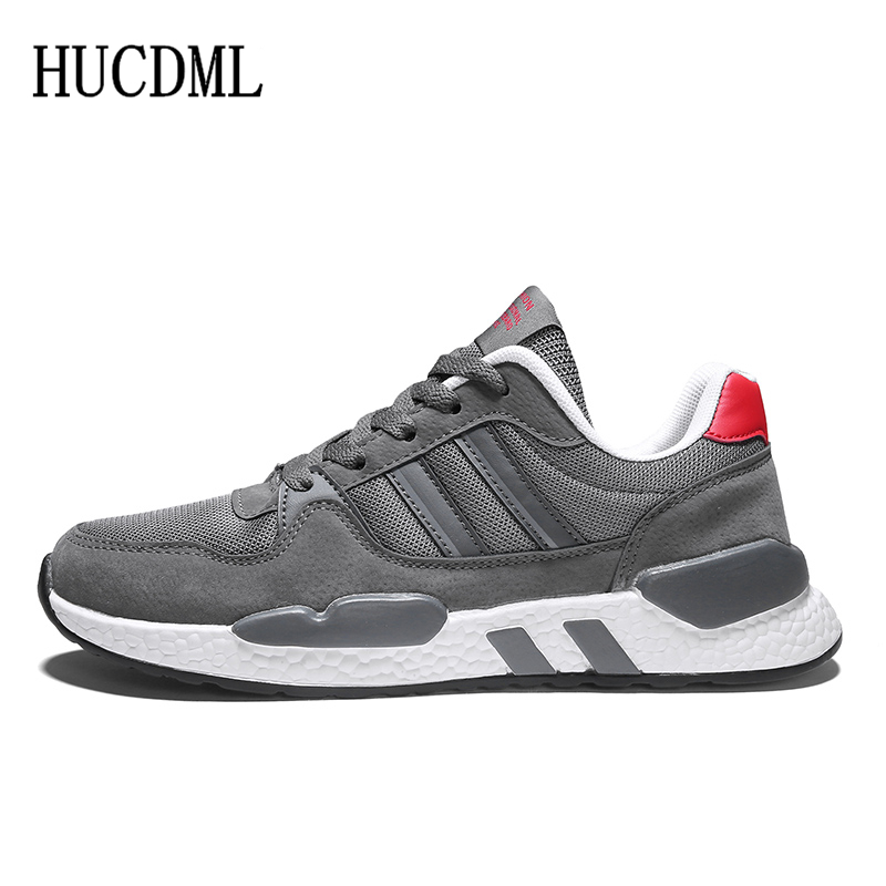 HUCDML 2019 Spring/Summer New Mesh Men Shoes High Quality Men's Shoes Breathable Comfortable Casual Designer Sneakers Men Light
