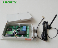 LPSECURITY Waterproof GSM GPRS remote switch controller key for Automatic door gate opener 2 relays output 2 relays alarm input