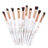 Hot Women's Fashion 10PCS Marbling Eye Makeup Brushes Multifunctional Makeup Brush Concealer Eyeshadow Cosmetic Brush Set Tool Health & Beauty