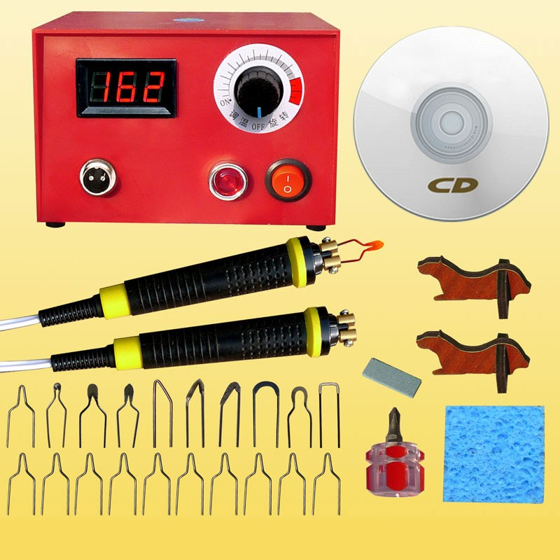 2018 50W Pyrography Tool Machine 110V/220V Multifunction Laser Gourd Wood Craft Tool Kit Pyrography 3080 00 craft tool strip