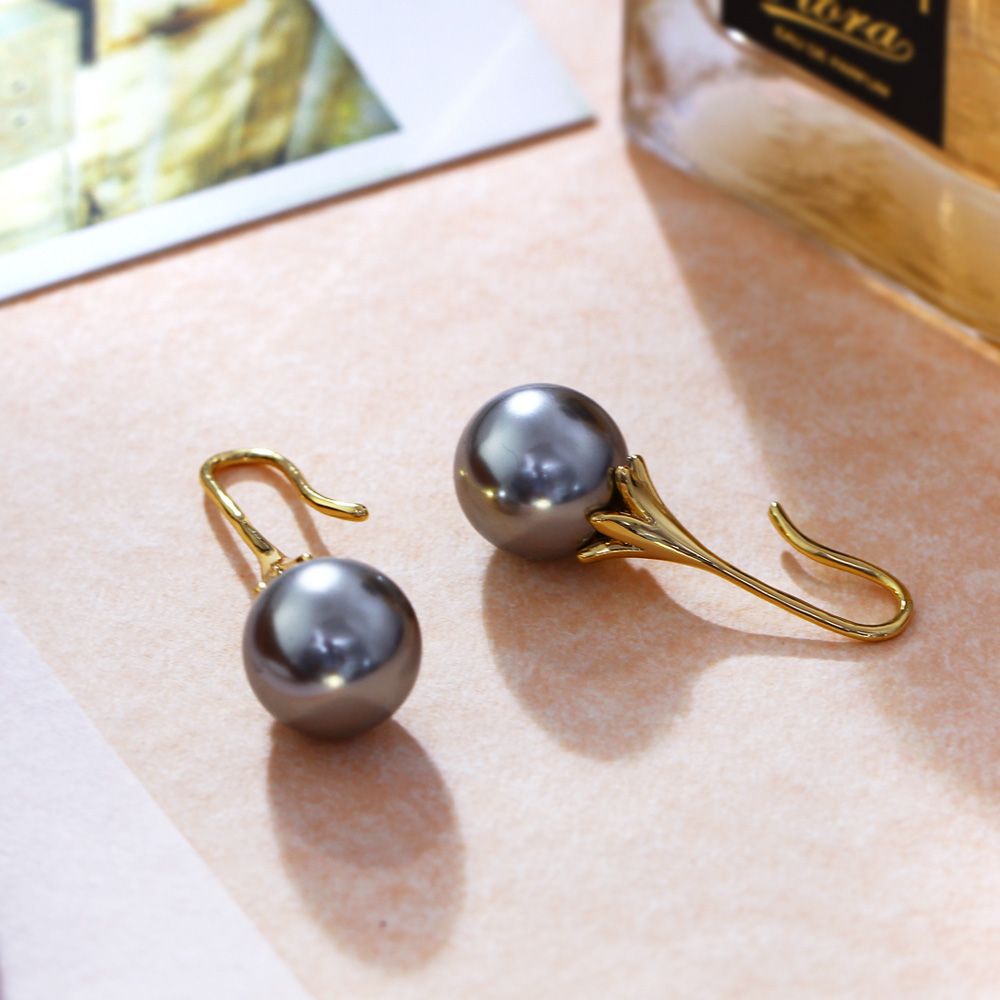 Grey Colour Earrings: Produs DreamCarnival 1989 Pearl Earrings For Women 12mm