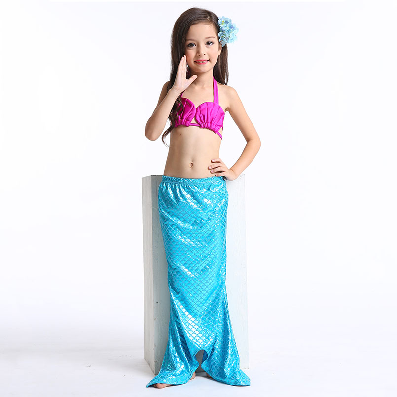 Mermaid Tail Swimming wear-blue rose 4