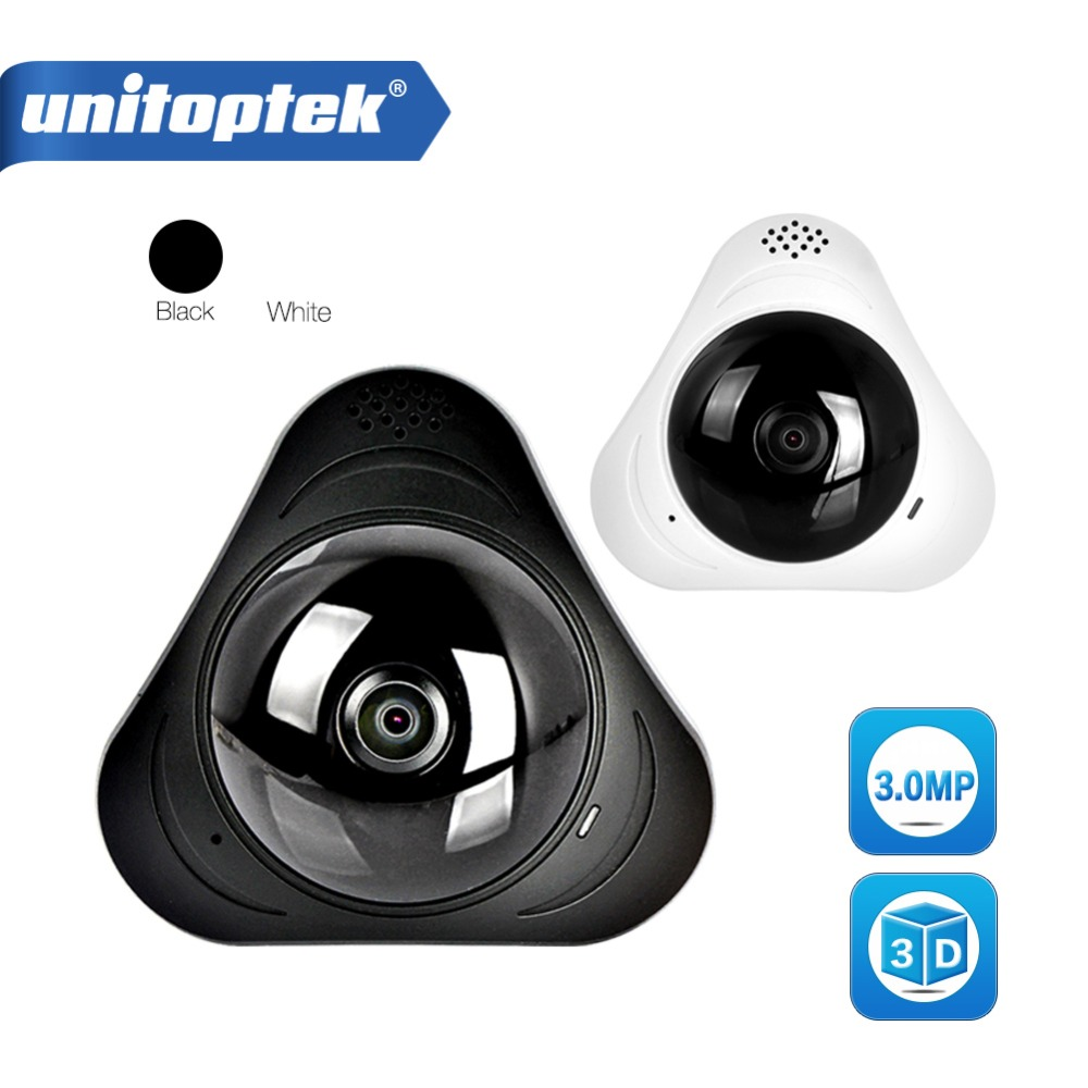 HD 3MP 3D VR WIFI IP Camera 360 Degrees Panorama Baby Monitor Mini IP Cam Two