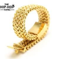 High Quality Men S Hip Hop Bracelets Stainless Steel 3 Row Franco Link Chain Large Solid