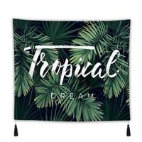 100*70cm Wall Hanging Tapestry Bohemian Palm Leaf Blanket Boho Hippie Beach Towel Wall Decorative Carpet Mandala for Living Room