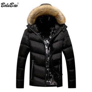 Image 1 - BOLUBAO Marke Männer Warme Parka Hohe Qualität Winter Männliche Mit Kapuze Mantel Jacken Casual Pelz Kragen Winddicht herren Parka