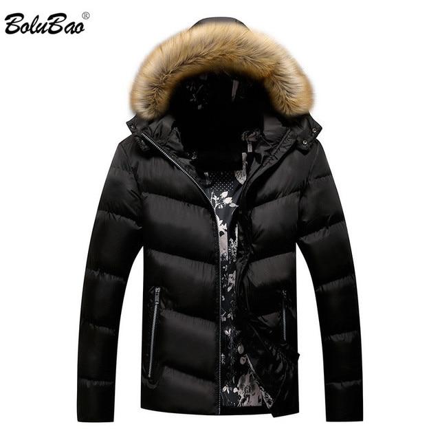 BOLUBAO Marke Männer Warme Parka Hohe Qualität Winter Männliche Mit Kapuze Mantel Jacken Casual Pelz Kragen Winddicht herren Parka