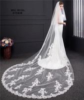 Generous Bridal Veils 3 5 Meters Length Tulle High Quality Luxury Veil Collection 2018 Vintage Wedding