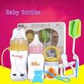O bebê recém-nascido garrafa de vidro garrafa de caixa do pacote de seis peças queda prova anti flatulência