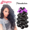 Rosa Hair Products Malaysian Virgin Hair Body wave 3 bundles 7A Unprocessed human hair extensions malaysian body wave curly hair