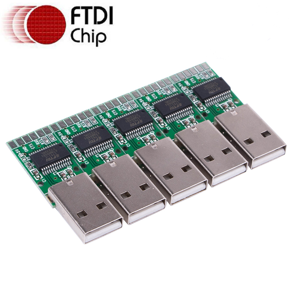 FTDI USB TTL UART 3V3 3.3V 5V Serial Module Adapter Converter Board Support Win10/8/7/XP/Android/Mac/Linux/Vista/Wince/Arduino
