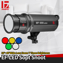JINBEI EF LED Spot Snoot Multi-Functional Light Shaping Tool with 5 Magnetic Color Gels Bowen Mount Shape for Lights
