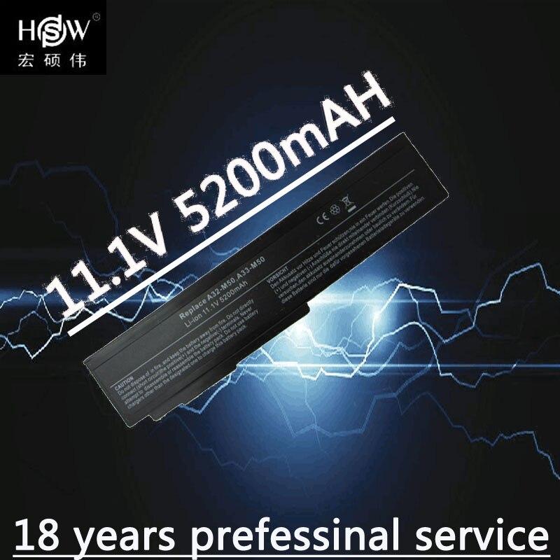 HSW 5200mAh Battery For ASUS M60JV M60V M60VP M60W N43 N43 N43J N43JF N43JM N53 N53D N53DA N53J N53JF N53JG N53JL N53JN Bateria