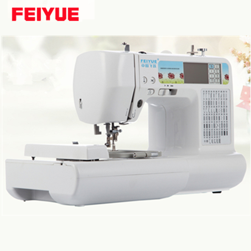Feiyue fy a domestic embroidery sewing machine built in
