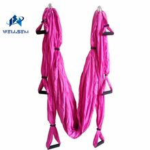 Thuis Antenne Yoga Hangmat pilates band workout Yoga Inversion Swing Trapeze Anti-Zwaartekracht Riem Tool met 6 handvat 4 haken(China)