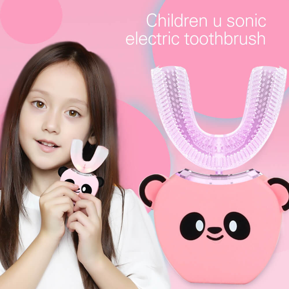 For 3-7 Years Old Electric Childrens Toothbrush U Type 360 Degrees Kids Sonic Toothbrush Automatic Ultrasonic Baby ToothbrushFor 3-7 Years Old Electric Childrens Toothbrush U Type 360 Degrees Kids Sonic Toothbrush Automatic Ultrasonic Baby Toothbrush
