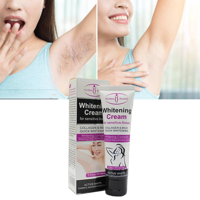 Intelligent 50ml Armpit Whitening Cream Beauty Body Cream Between Legs Knees Private Parts Underarm Whitening Formula Armpit Whitener Scrubs & Bodys Treatments Bath & Shower