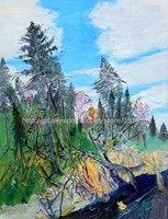Горячая Ручная роспись картина маслом на холсте Wall Art Живопись пейзажи quadros де Parede сала ЭСТАР pinturas famosas