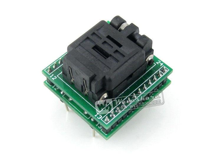 все цены на QFN24 TO DIP24 (B) QFN24 MLF24 MLP24 Plastronics 24QN50K14040 IC Test Socket Programming Adapter 0.5mm Pitch онлайн