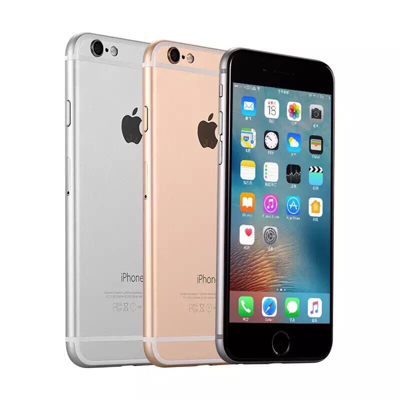 used Phone Apple <font><b>iPhone</b></font> 6 1 GB de RAM 4,7 pulgadas IOS <font><b>Dual</b></font> Core 1,4 GHz teléfono <font><b>8</b></font>,0 MP Cámara 3G WCDMA 4G LTE 64GB ROM image