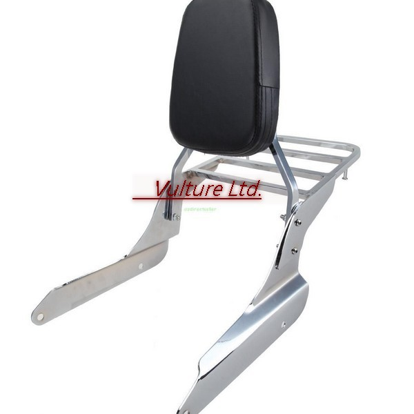 Backrest Sissy Bar With Luggage Rack Chrome For Honda