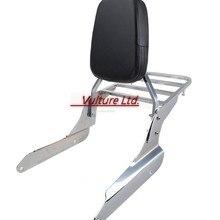 Respaldo Sissy Bar con equipaje cromo para Honda Shadow Vlx 600 1999-2007