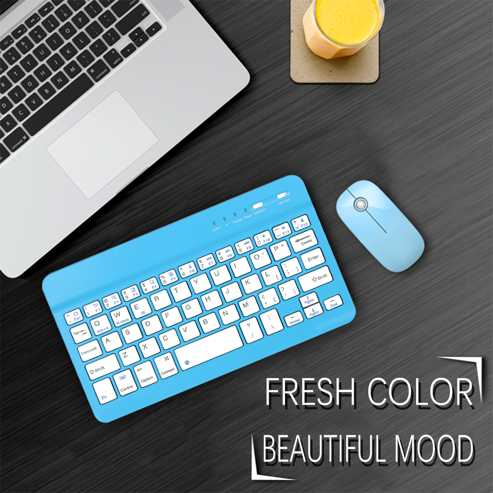 Image 3 - 7.9inch Ultra Slim Wireless Bluetooth Keyboard 59 keys Rechargeable High Quality Portable Keypad For iPad iOS Android Windows PC-in Keyboards from Computer & Office