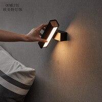 Nordic прикроватной тумбочке настенные светильники светодиодные спальня исследование свет современный минималистский творческая личность п