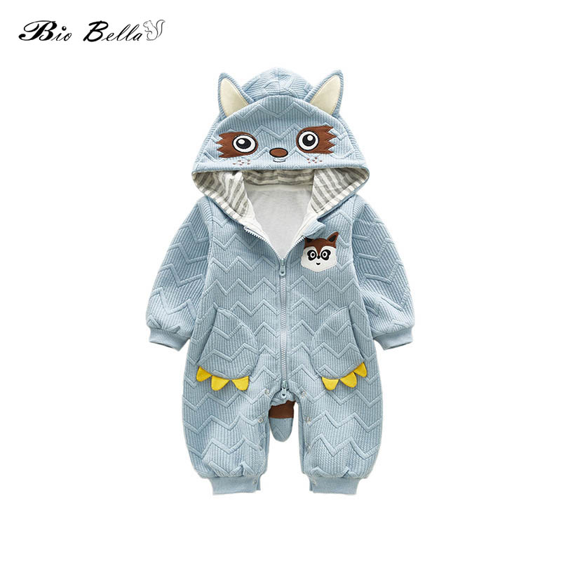 Top Quality Cotton Toddler Baby Girl Boy   Romper   Cute Mole Style Hoodies Jumpsuit Baby Outfit Newborn Bebes Infantil Costumes