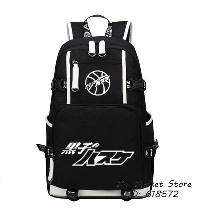 Hot Japanese Anime Kurokos Basketball Kuroko Tetsuya Cartoon Backpack Double Shoulder Bags Canvas Laptop Backpack Travel Bags