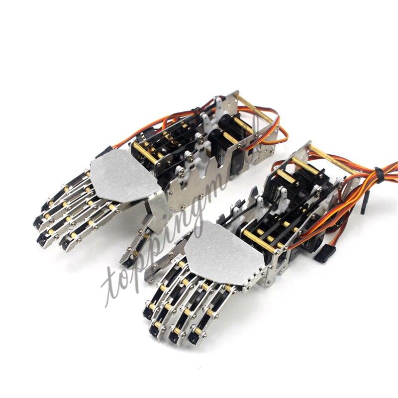 5DOF Robot Humanoid Metal Manipulator Five Fingers Anthropomorphic Left+Right Hand with GS9018 Servo 50% OFF