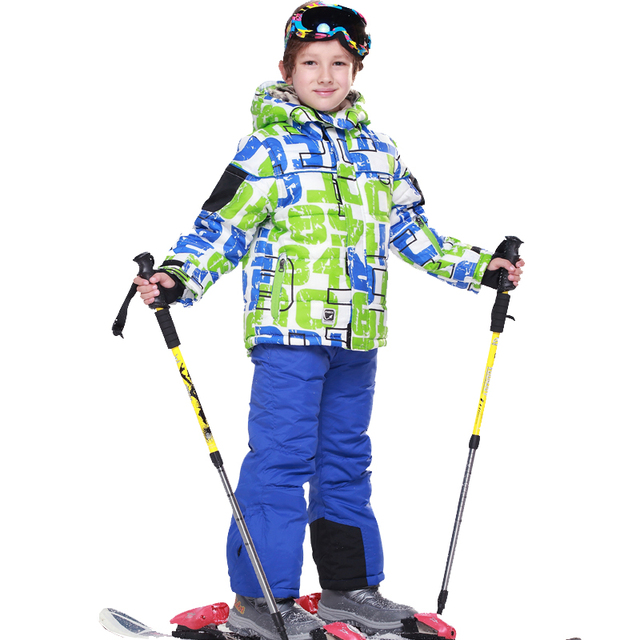 24a434d61 6~15T Children Waterproof Ski Suit Jackets Winter Boys Snow Wear Boy ...