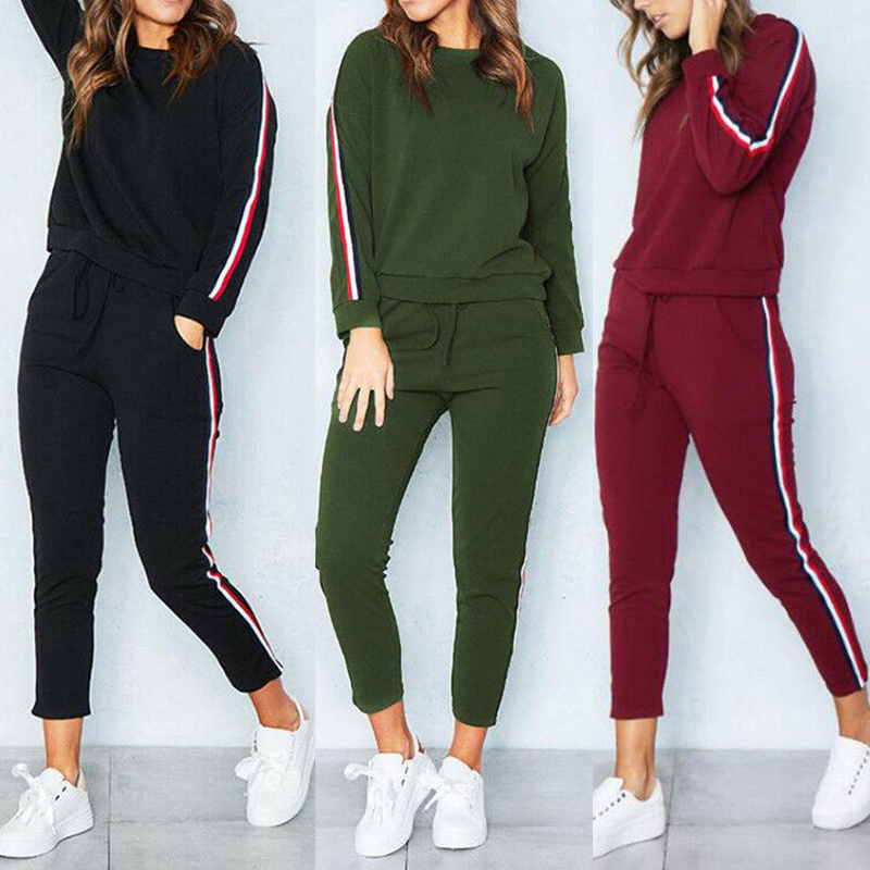 2019 Spring Tracksuit Long Sleeve O Neck Sweatshirt + Harem Pants 2Piece Set Sport Loungewear Tunic Suits Womens Tracksuit Sets-in Women's Sets from Women's Clothing on AliExpress - 11.11_Double 11_Singles' Day 1