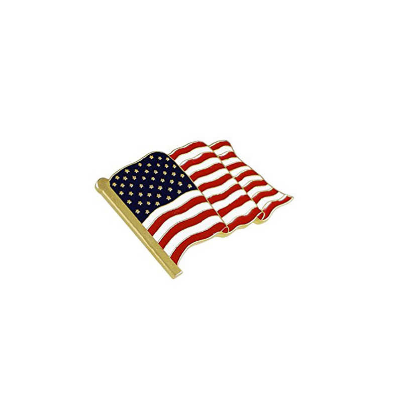 1 PC New Fashion Brooches American Flag Brooches Stripe Star Accessories Simple Classic High Quality Brooches