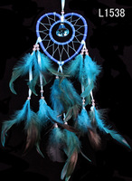 ريشة الحرف القلب حلم الماسك ينسجم زاك صافي مع الريشة الخرز اليدوية لل ديكور الجدار شنقا سيارة المنزل