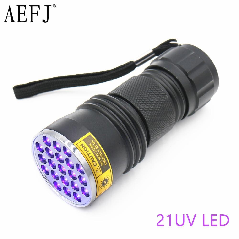 21LED 12LED UV Light 395-400nm LED UV Flashlight Torch Light Lamp