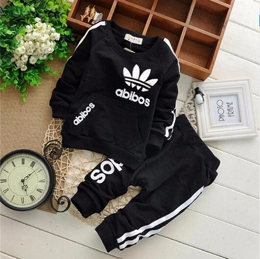 2016 brand clothes sets newborn girls boys autumn children clothing sets kids 2pcs clothing set suit