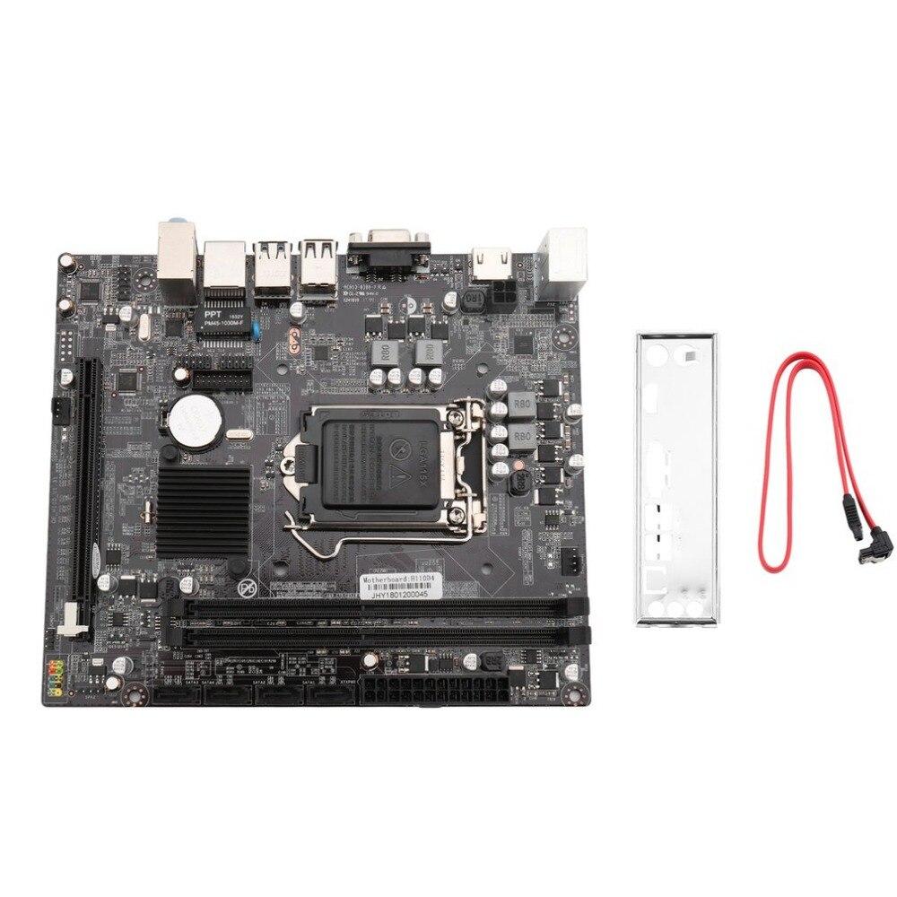 Haute Performance H110 ordinateur de bureau carte mère Type de mémoire DDR4 2400/2133 MHZ USB 2.0 3.0 interface