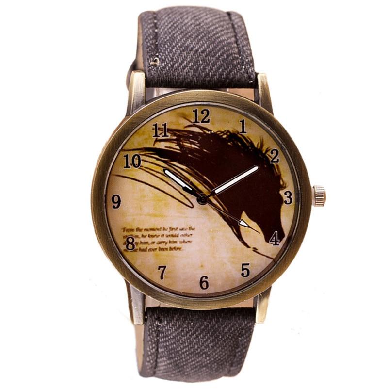 Mance 2018 Jaragar Luxury Watch Men Newly Design Vintage Brief Painting Horse Watch Quartz Wrist Watches Relogio Masculino A3