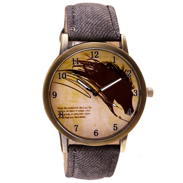 Mance 2018 jaragar luxury watch men Newly Design Vintage Brief Painting Horse Wa