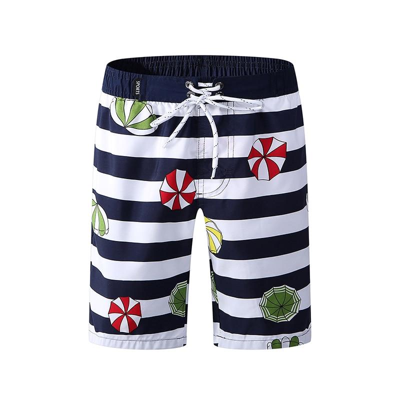 New Beach Wear Kid's Board Shorts High Elastic Surf Swimwear Boys Striped Swim Shorts Summer Running Athletic Five Pants 2019