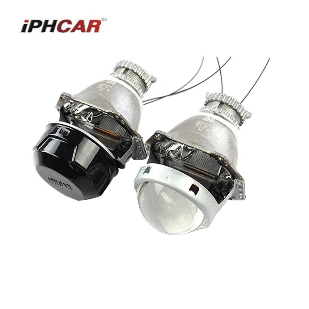 3.0 2pcs H4 Hella 5 Bi-xenon Projector lens Retrofit Car Headlight use D2S D2H xenon bulb car assembly  headlight 2 5 mini bi xenon projector lens can use with d2s d2h hid xenon bulb for h4 car headlamp easy install